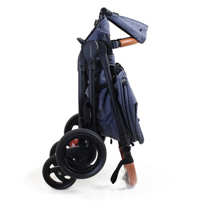Valco Baby Snap Ultra Trend Stroller in Denim folded