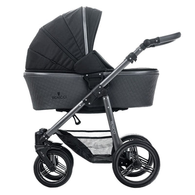 Venicci Carbo Lux 2 in 1 Stroller in Black with carrycot