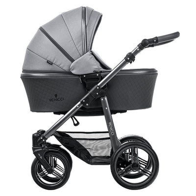 Venicci Carbo Lux 2 in 1 Stroller in Natural Grey with carrycot
