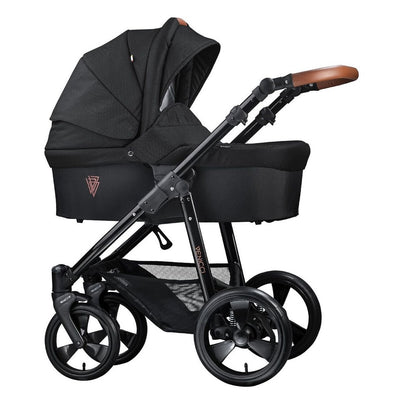 Venicci Gusto 2 in 1 Stroller in Black with Carrycot
