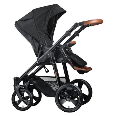 Venicci Gusto 2 in 1 Stroller in Black with Seat Unit attached