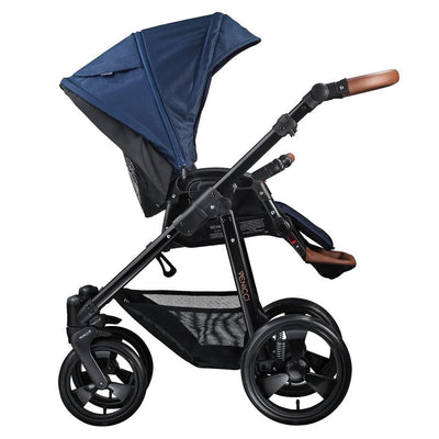 Venicci Gusto 2 in 1 Stroller in Navy with Seat unit attached