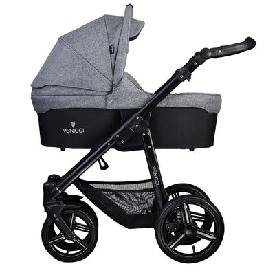 Venicci Soft 2 in 1 Stroller in Denim Grey with Carrycot attached