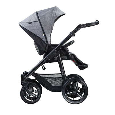 Venicci Soft 2 in 1 Stroller in Denim Grey with Seat Unit attached