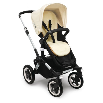 Bugaboo Wool Seat Liner on the Buffalo Stroller