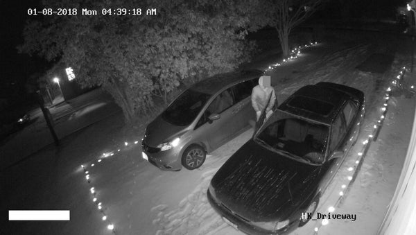 Car Prowler caught by Guardline Customer