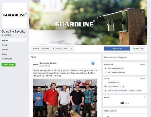Guardline Security on Facebook