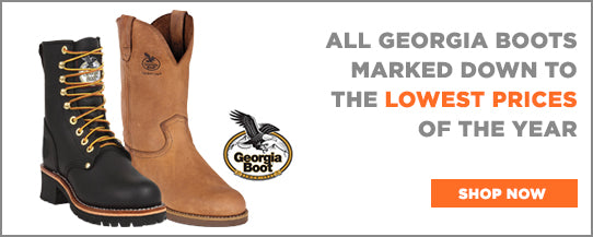 Georgia Boots now marked down to the Best Prices of the Year