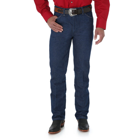 Wrangler Mens Rigid Indigo 100% Cotton Cowboy Cut Jeans