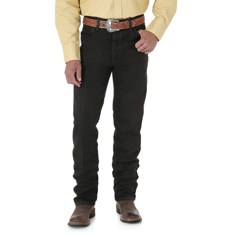 Wrangler Mens Black Chocolate 100% Cotton Cowboy Cut Jeans