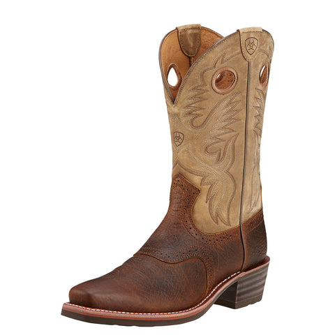 Ariat Earth/Bomber Mens Heritage Roughstock Leather Western Boots