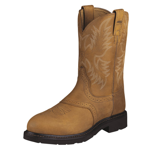 Ariat Aged Bark Mens Sierra Saddle St Leather Western Boots