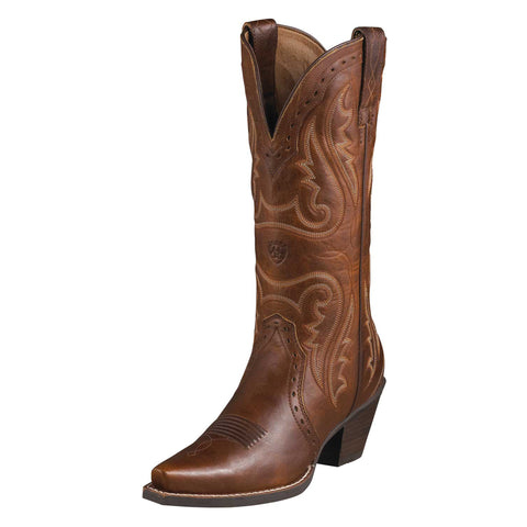 Ariat Carmel Womens Heritage Western X Toe Leather Western Boots