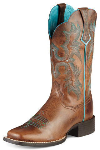 Ariat Sassy Brown Womens Tombstone Leather Western Boots