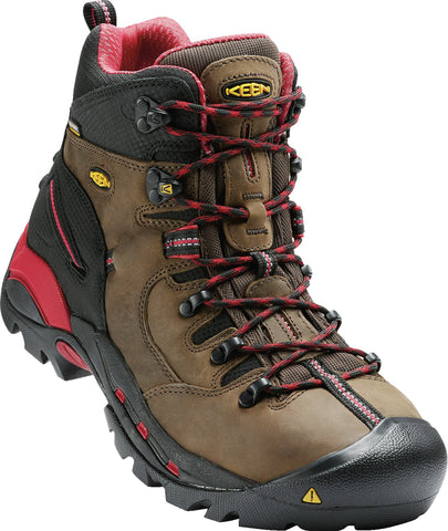 Keen Utility Bison Mens Pittsburgh WP Nubuck Work Boots