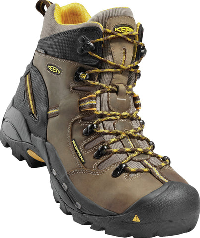 Keen Utility Slate Black Mens Pittsburgh WP Nubuck Work Boots
