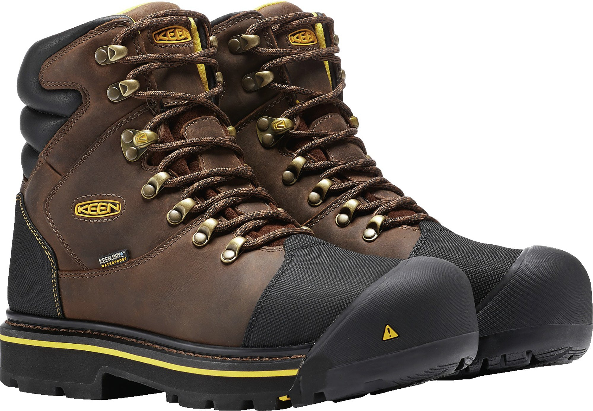 ce9f06ebb6 ... Keen Utility Dark Earth Mens Milwaukee WP WP Leather Work Boots ...
