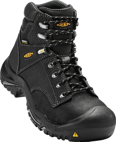 Keen Utility Black Mens Mt Vernon Mid WP Nubuck Work Boots