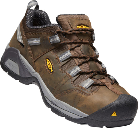 Keen Utility Brown/Gargoyle Mens Detroit XT ESD WP Leather Work Shoes