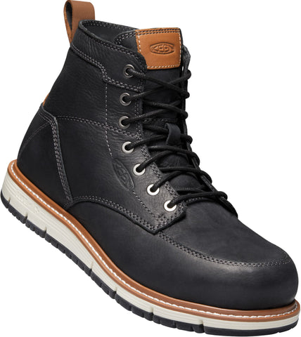 Keen Utility Blk/Caramel Cafe Mens San Jose 6in AT Leather Work Boots