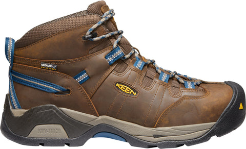 Keen Utility Orion Blue Mens Detroit XT Mid ST WP Leather Work Boots