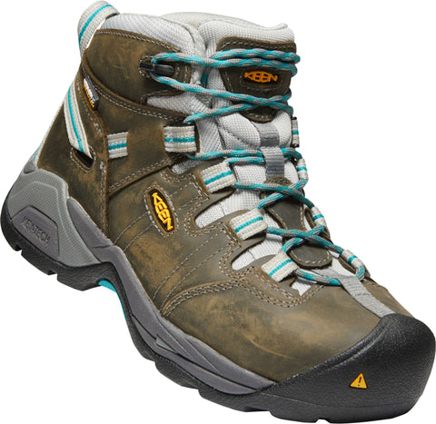 Keen Utility Lake Blue Womens Detroit XT Mid ST WP Leather Work Boots