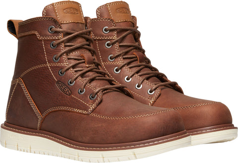 Keen Utility Gingerbread Mens San Jose 6in Soft WP Leather Work Boots