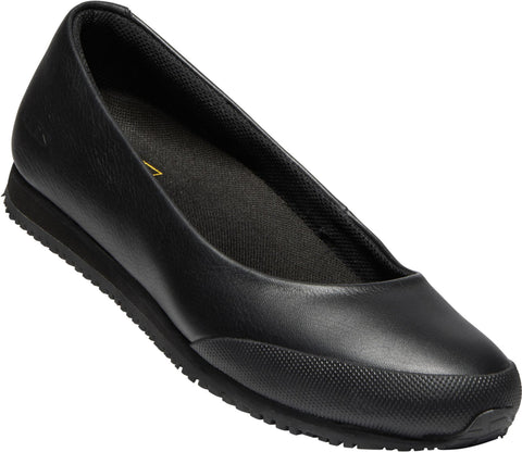 Keen Utility Black Womens Kanteen Ballet Flat WP Leather Work Shoes