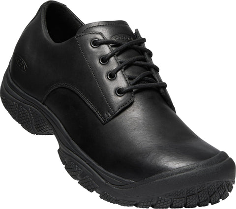 Keen Utility Black Mens Kanteen Oxford Soft Toe WP Leather Work Shoes