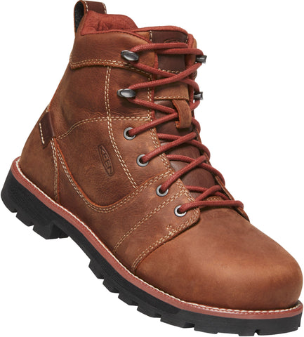 Keen Utility Gingerbread/Blk Womens Seattle 6in WP Leather Work Boots