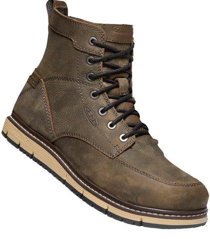 Keen Utility Brown/Black Mens San Jose 6in WP Leather Work Boots
