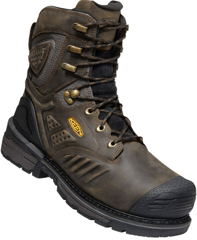 Keen Utility Brown/Black Mens Philadelphia 8in WP Leather Work Boots