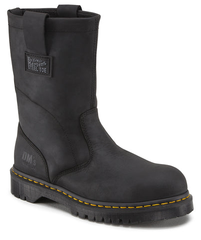 Dr Martens Black Industrial Greasy Mens Icon Leather ST Rigger Boots