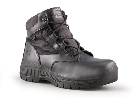 Timberland Pro 6In Valor WP Mens Black Leather Work Boots Security