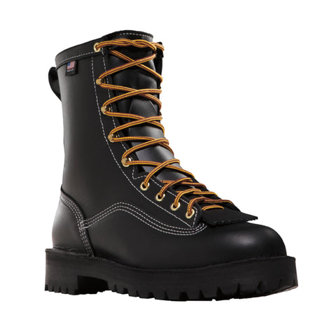 Danner Super Rain Forest 8in 200G Mens Black Leather GTX Work Boots 11700