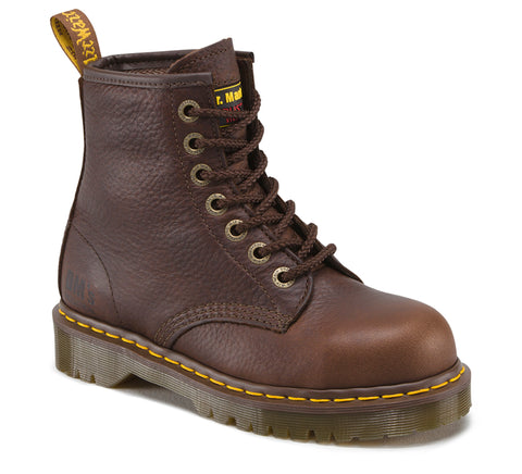 Dr Martens Bark Industrial Bear Mens Icon Leather ST 7 Eye Boots
