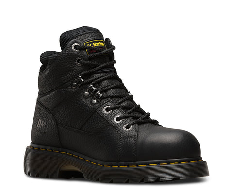 Dr Martens Black Unisex Ironbridge ST Grizzly Leather Work Boots