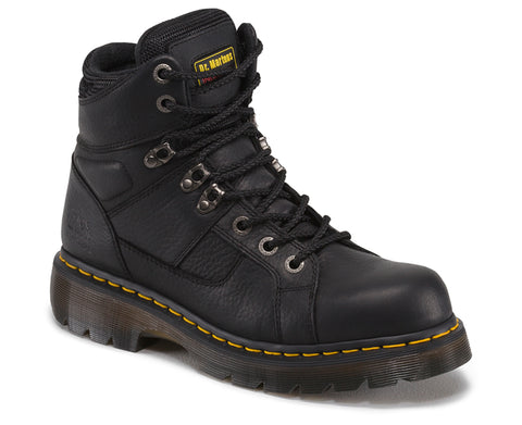 Dr Martens Black Unisex Ironbridge Ns Grizzly Leather Work Boots