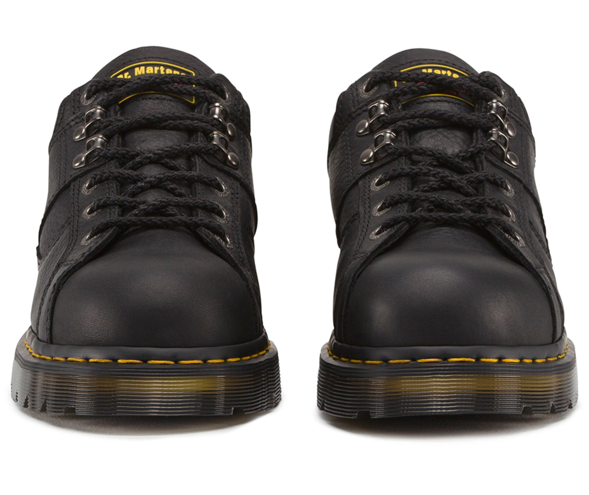 65420c9bc79 Dr Martens Black Unisex Gunby ST Grizzly Leather Work Shoes ...
