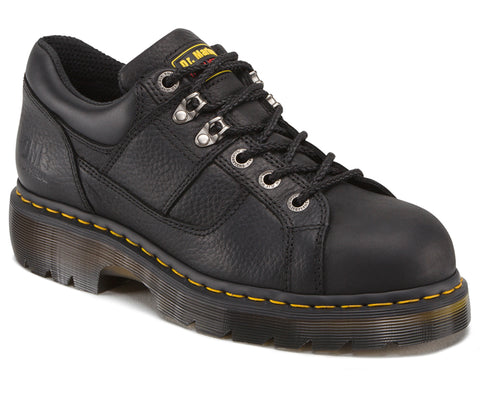 Dr Martens Black Unisex Gunby ST Grizzly Leather Work Shoes