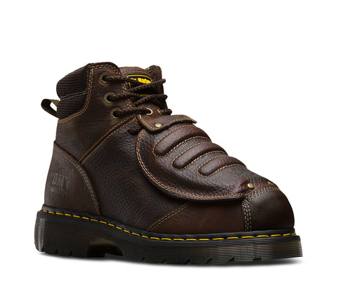 Dr Martens Teak Unisex Ironbridge Mg ST Trailblazer Leather Work Boots