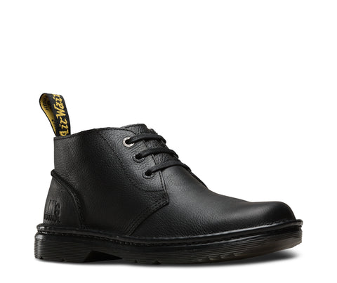 Dr Martens Black Unisex Sussex Bear Track Leather Work Boots