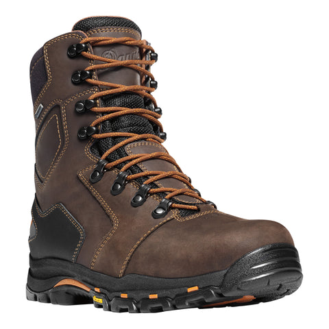 Danner Vicious 8in Mens Brown Leather Goretex Work Boots 13866