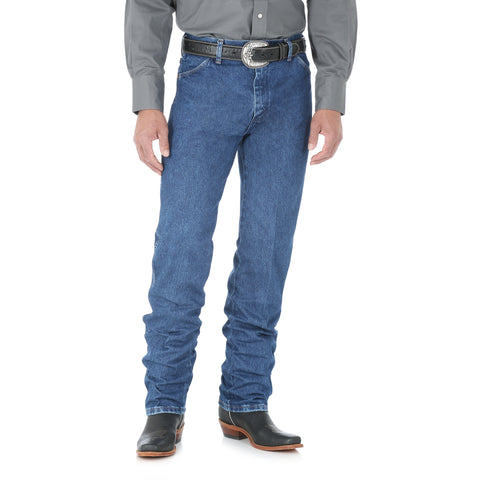 Wrangler Mens Stonewashed 100% Cotton Cowboy Cut Jeans
