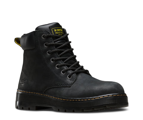 Dr Martens Black Wyoming Mens Trade Winch ST 7 Eye Boots