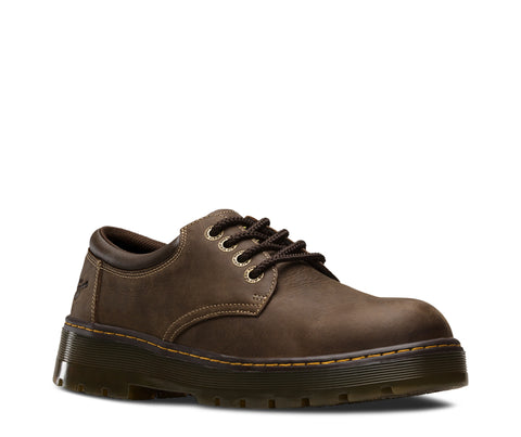Dr Martens Dark Brown Unisex Bolt ST Wyoming Leather Work Shoes