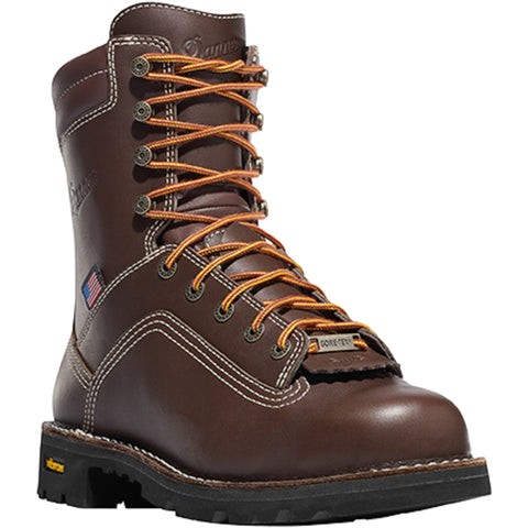 Danner Quarry USA 8in Mens Brown Leather Goretex Work Boots 17305