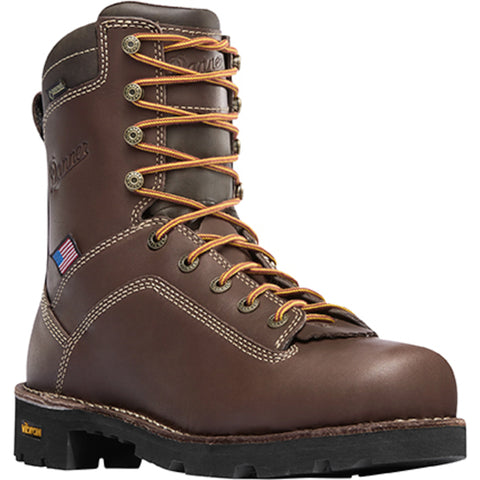 Danner Quarry USA 8in AT Mens Brown Leather Goretex Work Boots 17307