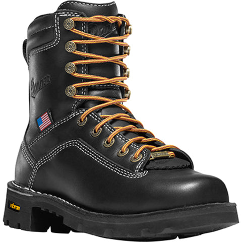 Danner Quarry USA 7in Womens Black Leather Goretex Work Boots 17323