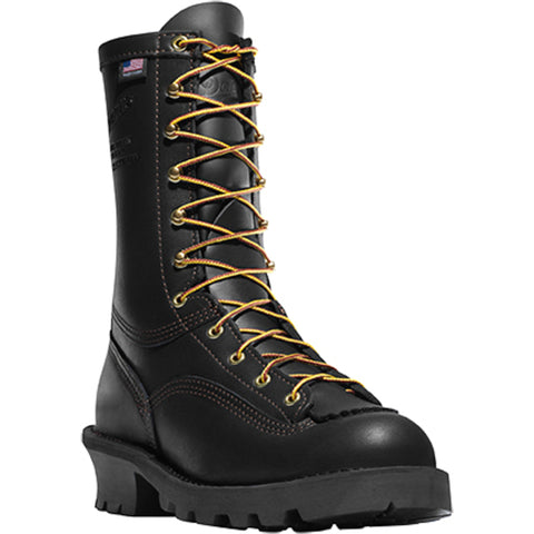 Danner Flashpoint II 10in Womens Black Leather Firefighter Boots 18102